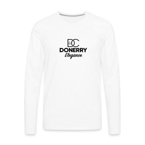 Donerry Elegance Black Logo on White - Men's Premium Longsleeve Shirt