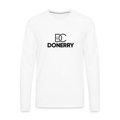 DONERRY Black Logo on White - Men's Premium Longsleeve Shirt