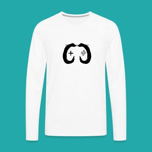 Crowd Control Controller Logo Black Large - Men's Premium Longsleeve Shirt