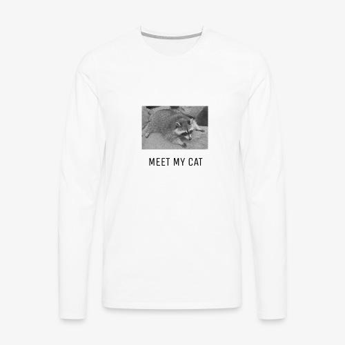 Meet My Cat - Miesten premium pitkähihainen t-paita