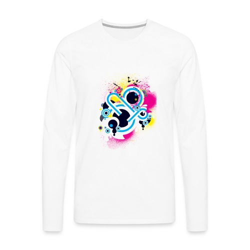 d3scene t shirt design front o by ezacx d3924g1 p - Mannen Premium shirt met lange mouwen