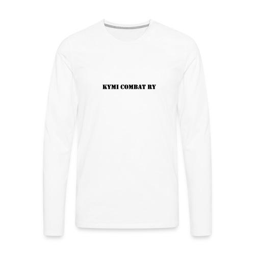 kc musta teksti transparent png - Miesten premium pitkähihainen t-paita