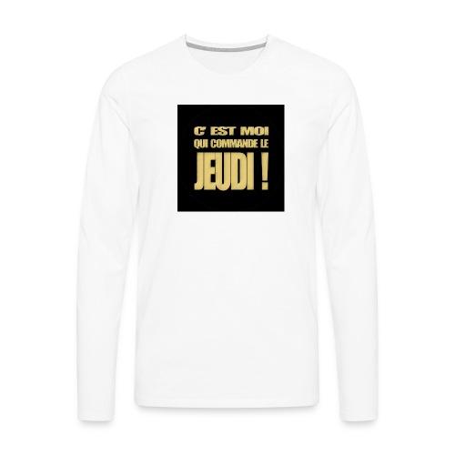 badgejeudi - T-shirt manches longues Premium Homme