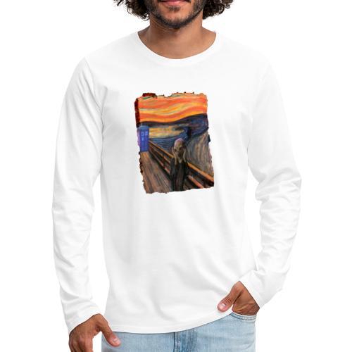 Screaming Tardis - Men's Premium Longsleeve Shirt