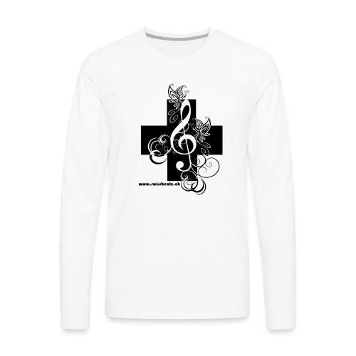 Swiss Beatz Logo non L - Männer Premium Langarmshirt
