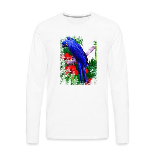 PAPPAGALLI - Maglietta Premium a manica lunga da uomo