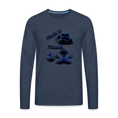 Pirates - Miesten premium pitkähihainen t-paita