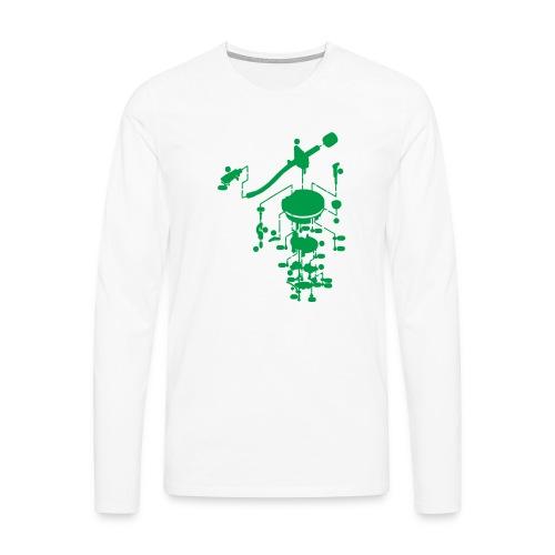 tonearm05 - Mannen Premium shirt met lange mouwen
