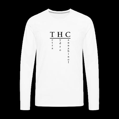 THC-Tetrahydrocannabinol - Männer Premium Langarmshirt