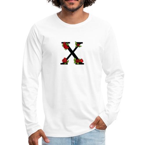 Kanji Rose print - Premium langermet T-skjorte for menn
