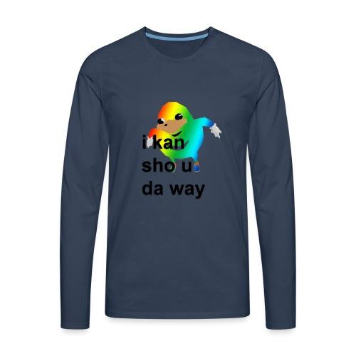 uganda - Miesten premium pitkähihainen t-paita