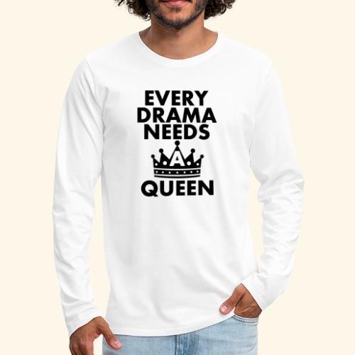 EVERY DRAMA black png - Men's Premium Longsleeve Shirt