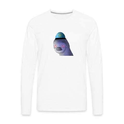 Logo ilman taustaa - Miesten premium pitkähihainen t-paita