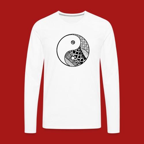 Decorative-Yin-Yang - Herre premium T-shirt med lange ærmer