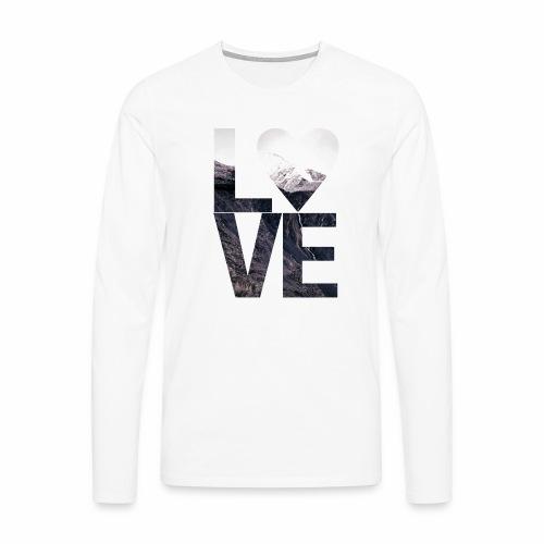 L.O.V.E - Mountains - Männer Premium Langarmshirt
