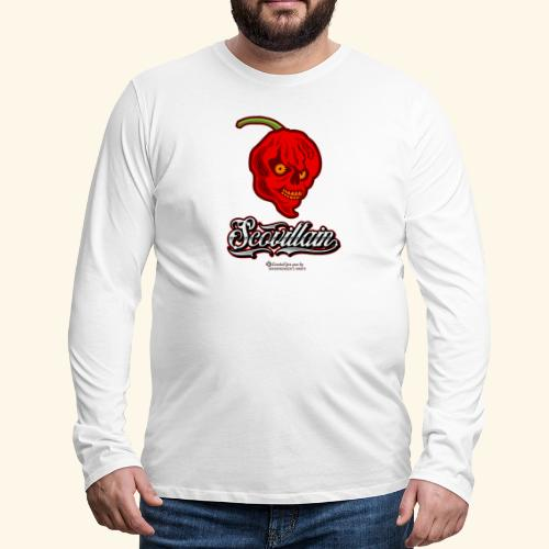 Chili Chilischote Chilihead Scovillain - Männer Premium Langarmshirt