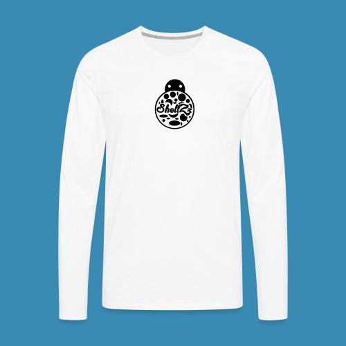 ShellZz Logo Invert - Men's Premium Longsleeve Shirt