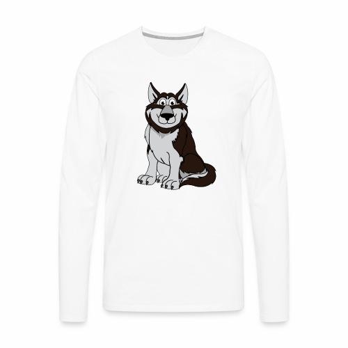 Husky - Männer Premium Langarmshirt