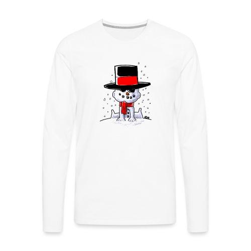 snowbaby hat - Mannen Premium shirt met lange mouwen