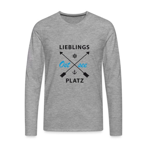 Lieblingsplatz Ostsee - Männer Premium Langarmshirt