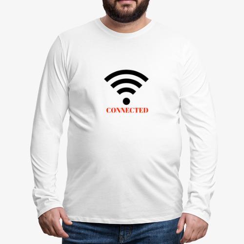 CONNECTED - Långärmad premium-T-shirt herr