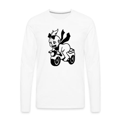 Mädchen auf Motorrad - Männer Premium Langarmshirt