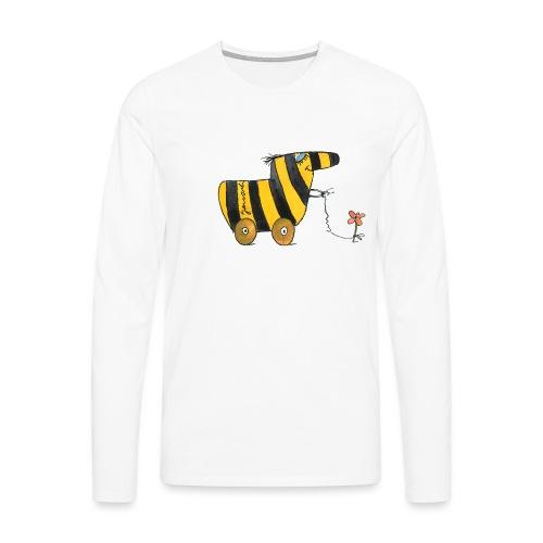 Janoschs Tigerente mit Blume - Männer Premium Langarmshirt