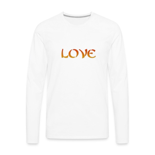 LOVE - Maglietta Premium a manica lunga da uomo