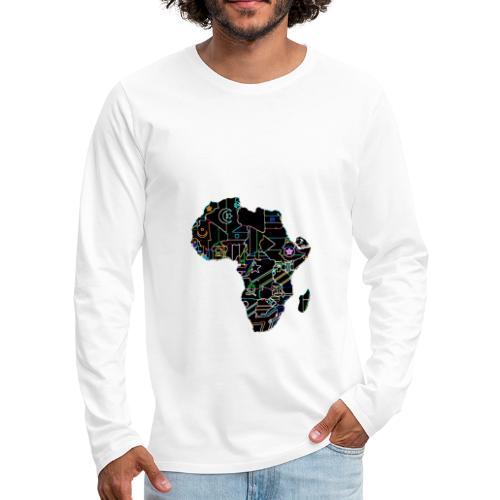 Afrique Néons - T-shirt manches longues Premium Homme