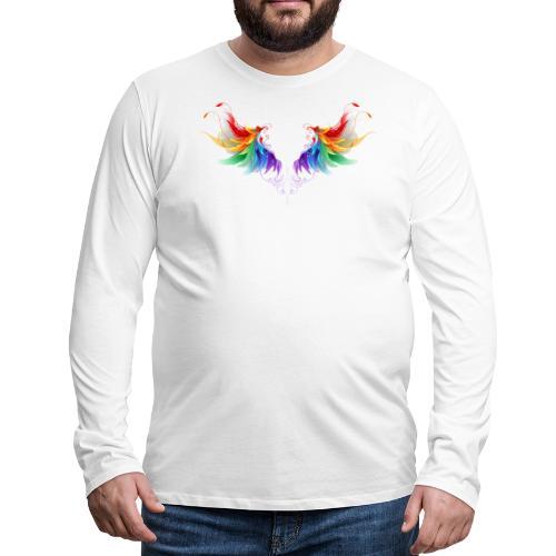 Ailes d'Archanges aux belles couleurs vives - T-shirt manches longues Premium Homme