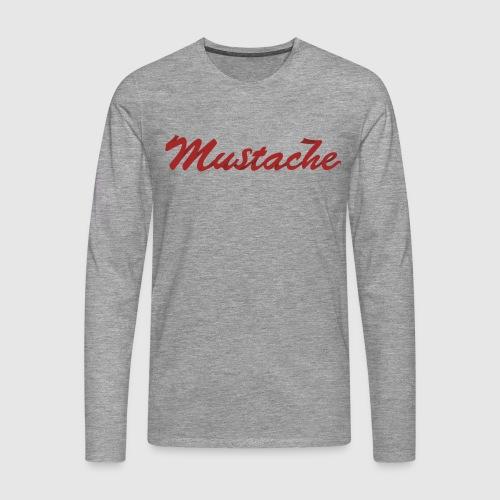 Red Mustache Lettering - Men's Premium Longsleeve Shirt