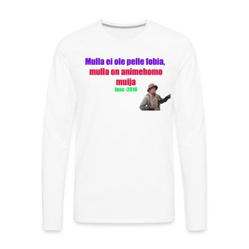 Jusun kuuluisa lausahdus - Miesten premium pitkähihainen t-paita