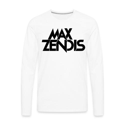 MAX ZENDIS Logo Big - White/Black - Männer Premium Langarmshirt