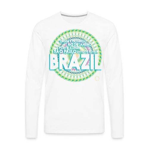 Lemon Brazil Mandala - T-shirt manches longues Premium Homme