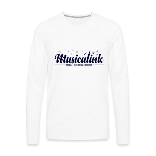 Musicalink blue - T-shirt manches longues Premium Homme