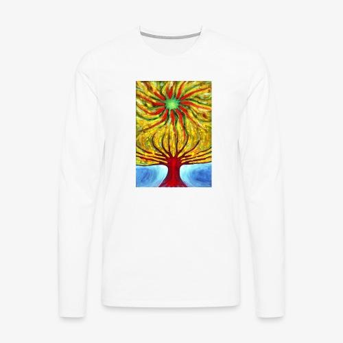 Green Sun - Koszulka męska Premium z długim rękawem