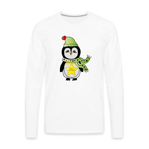 Christmas Pinguin - Männer Premium Langarmshirt