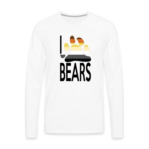 I love bears - T-shirt manches longues Premium Homme