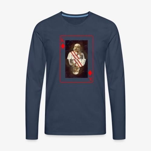 Kaiser Franz von Österreich spielkarte - Männer Premium Langarmshirt