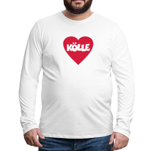 I Love Kölle - Ein Herz für Köln - Männer Premium Langarmshirt