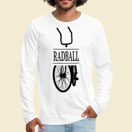 Radball | Retro Black - Männer Premium Langarmshirt