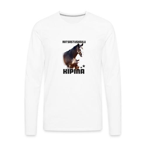 Kipinän selkäpainatus - Miesten premium pitkähihainen t-paita