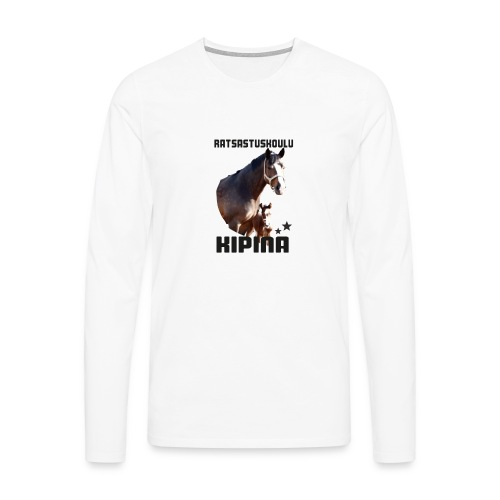 Kipinän t-paita - Miesten premium pitkähihainen t-paita