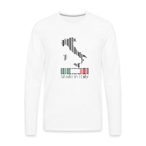 Made in Italy - Maglietta Premium a manica lunga da uomo