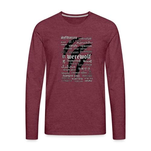 Werewolf in 33 Languages - Koszulka męska Premium z długim rękawem