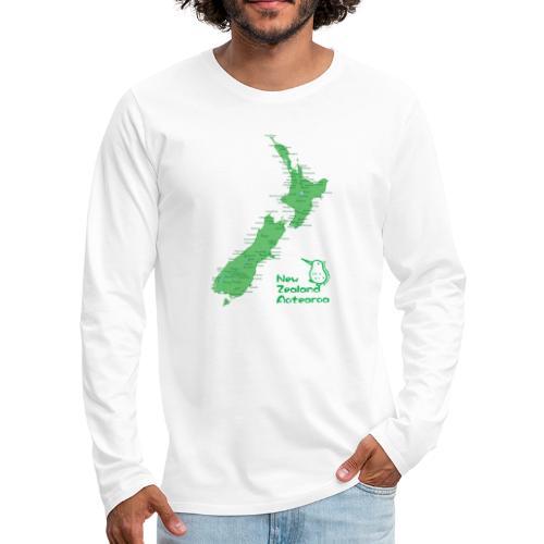New Zealand's Map - Men's Premium Longsleeve Shirt