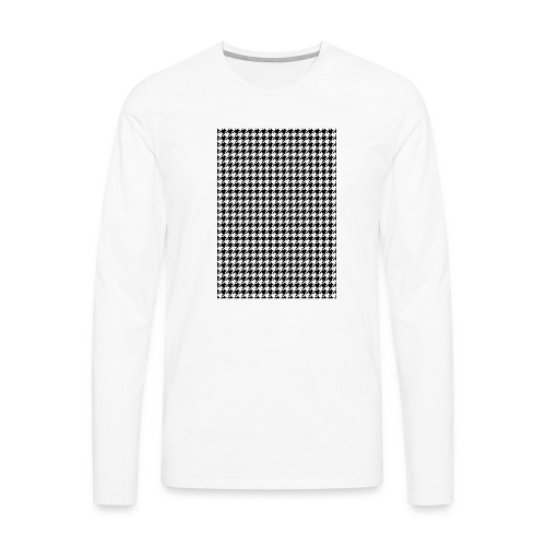 pied de poule v12 final01 - Mannen Premium shirt met lange mouwen