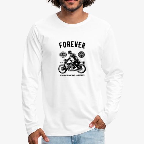 Deux roues pour toujours - T-shirt manches longues Premium Homme