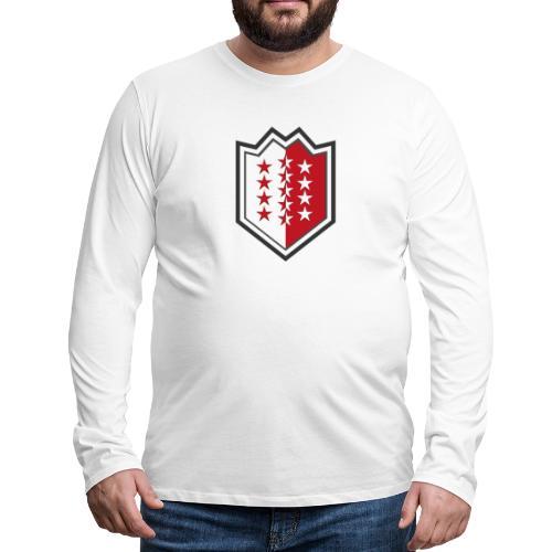 Bouclier moderne du Valais - Männer Premium Langarmshirt