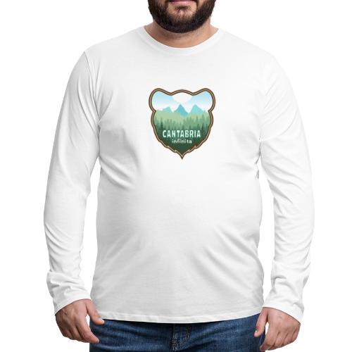 Oso en cantabria infinita - Camiseta de manga larga premium hombre